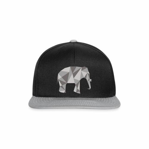 elephant géométrique - Casquette snapback