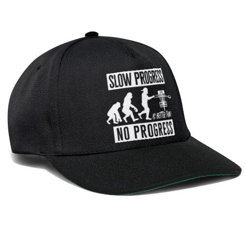 Disc golf - Slow progress - White - Snapback Cap