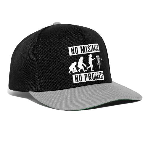 Disc golf - No mistakes, no progress - White - Snapback Cap