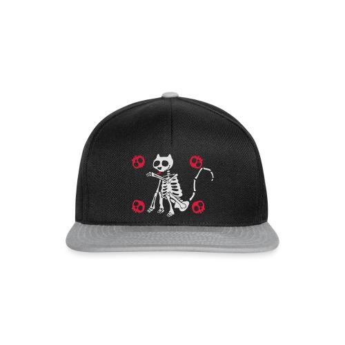 Katzen Skelett - Snapback Cap