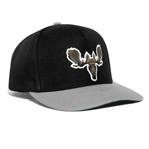 Low Poly Moosehead - Snapback cap