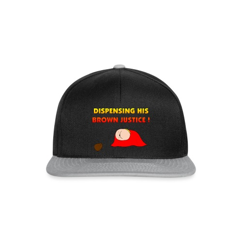 Flying Bum (diagonal) - with text - Snapback Cap