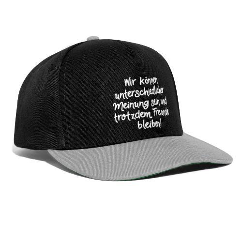 Unterschiedliche Meinung - Weiß - Snapback Cap