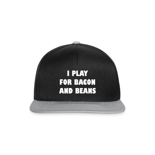 for bacon and beans - Snapback cap