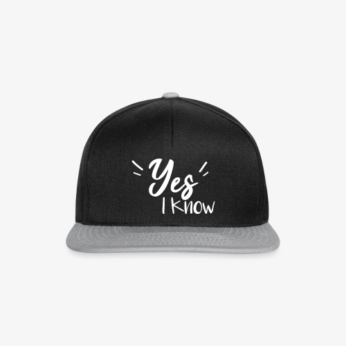Yes, i know - Casquette snapback