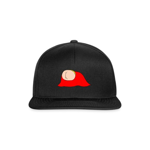 Flying Bum (diagonal) - without text - Snapback Cap