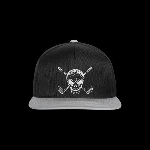 Schwarzlicht Semester Totenkopf Weiss - Snapback Cap