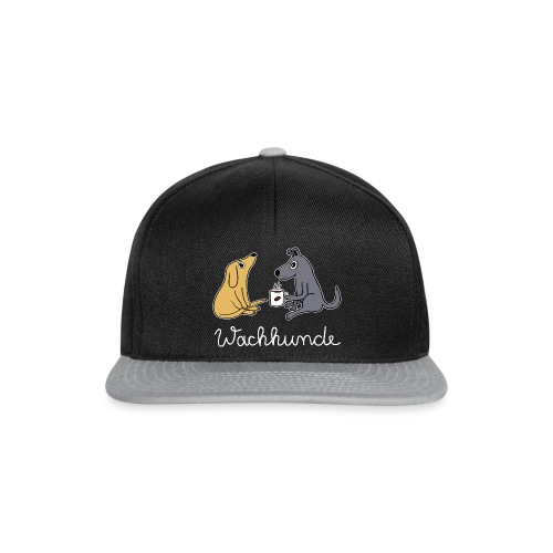 Wachhund trinkt Kaffee Koffein weckt müde Hunde - Snapback Cap