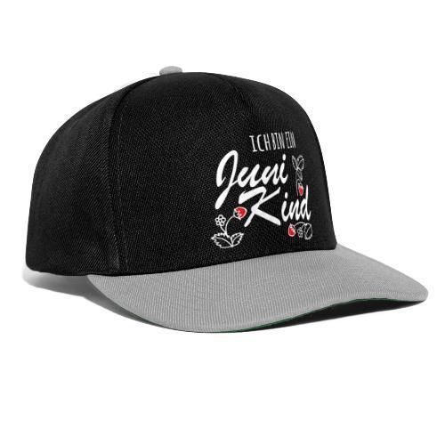 Juni Geburtstag Kind Shirt lustiges Geschenk - Snapback Cap