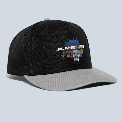 logo planetofmine dark HD - Casquette snapback