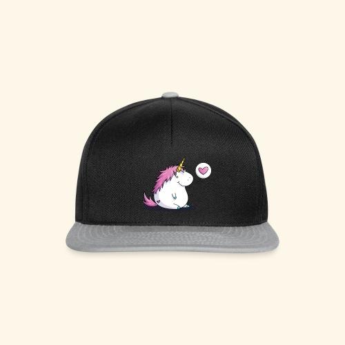 Fat Unicorn with Heart - Snapback Cap