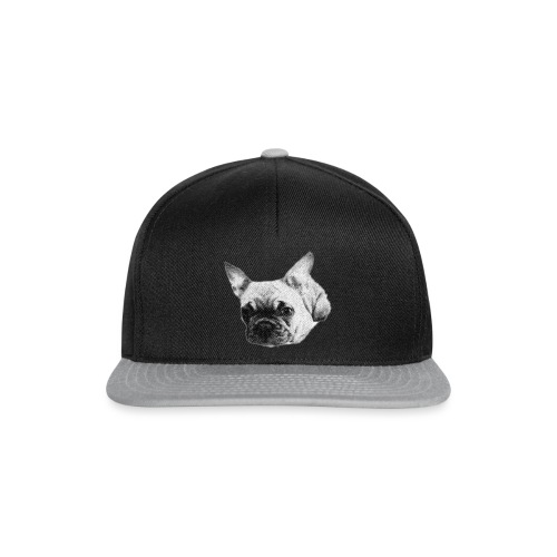 frenchie sketch - Snapback Cap