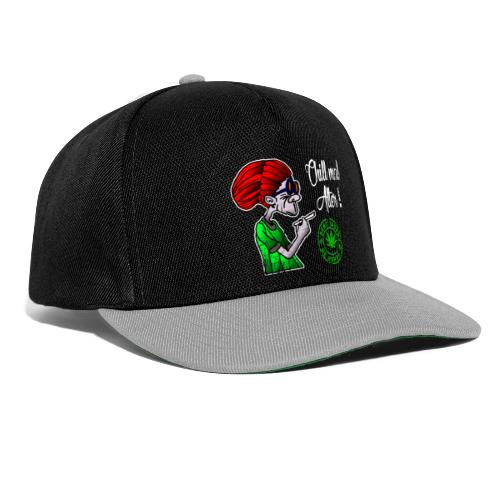 Chill old age, smoke weed everyday, vintage - Snapback Cap