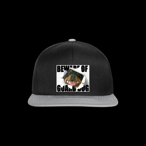 beware of guard dog - Snapback Cap