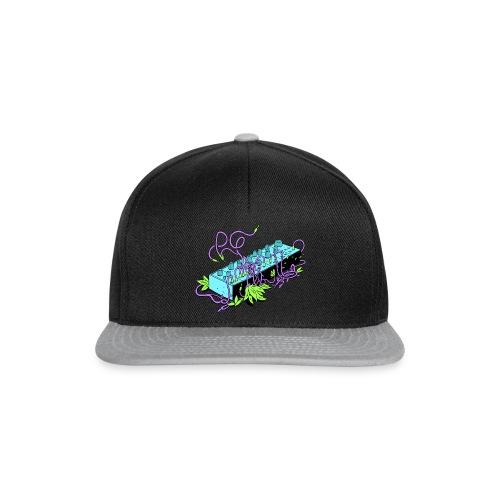 Modular Synthesizer - Black & Purple - Snapback Cap