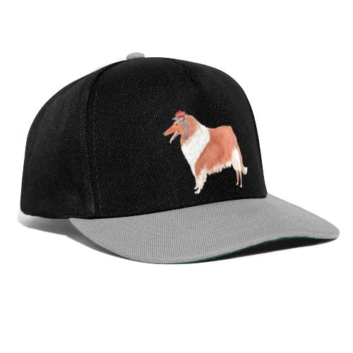 collie with flower - Snapback Cap