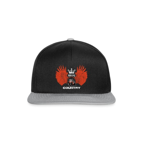 WINGS King of the country wit rood op zwart - Snapback cap