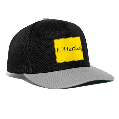 I love hamburg - Snapback Cap
