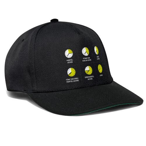 Uhrzeit auf schwäbisch - Snapback Cap