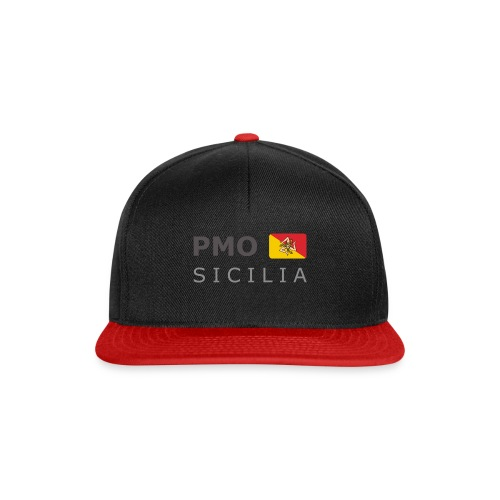 PMO SICILIA dark-lettered 400 dpi - Snapback Cap