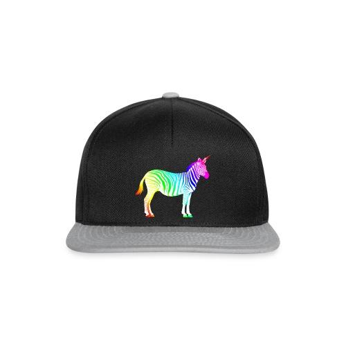 Zebra Einhorn Unicorn Regenbogen Zauber Magie - Snapback Cap