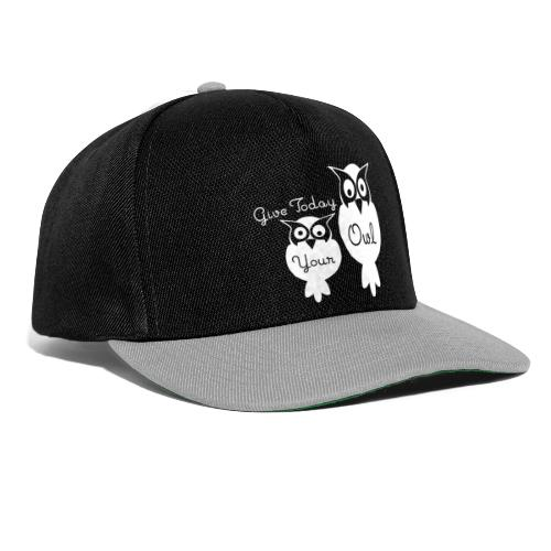 Give Today Your Owl weiß - Snapback Cap
