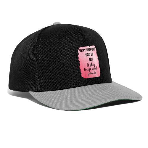 logo frases rosas - Gorra Snapback