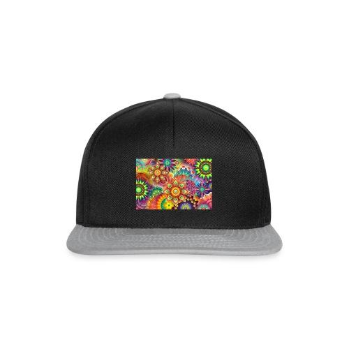 psychedelic bunte farben - Snapback Cap