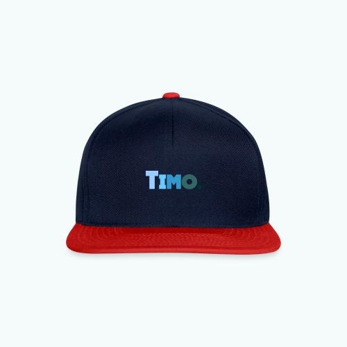 Timo in blauwe tinten - Snapback cap