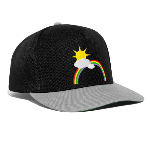 Regenbogen, Sonne, Wolken - Snapback Cap
