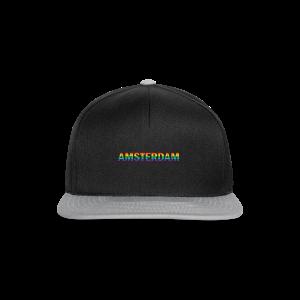 Amsterdam in gay pride rainbow kleuren - Snapback cap