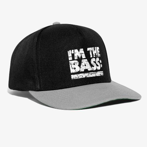 I'M THE BASS Vintage White Line - Snapback Cap