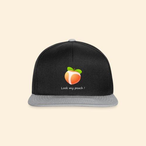 Look my peach in white - Snapback Cap