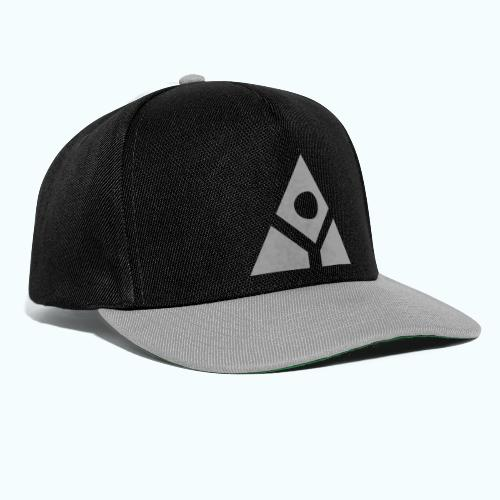 Sacred geometry gray pyramid circle in balance - Snapback Cap