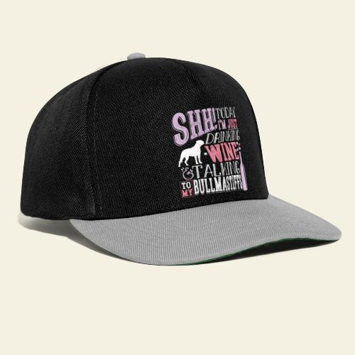 SHH Bullmastiff Wine - Snapback Cap