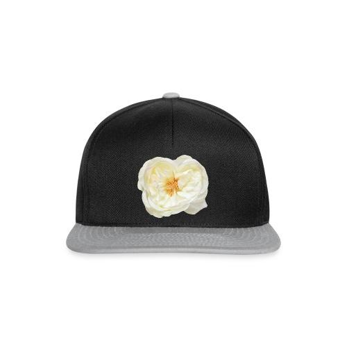 Weiße Rose Blume Blüte - Snapback Cap