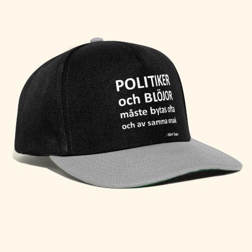 Politiker och blöjor måste bytas ofta - Snapbackkeps