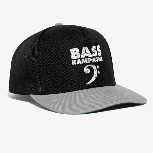 Basskampagne Bass Design Vintage Weiß - Snapback Cap