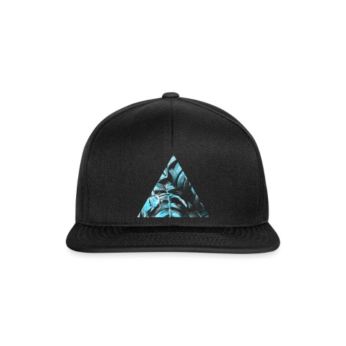 Blue Leaves Triangle - Snapback Cap