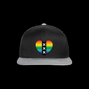 Hart Amsterdam in regenboog kleuren - Snapback cap