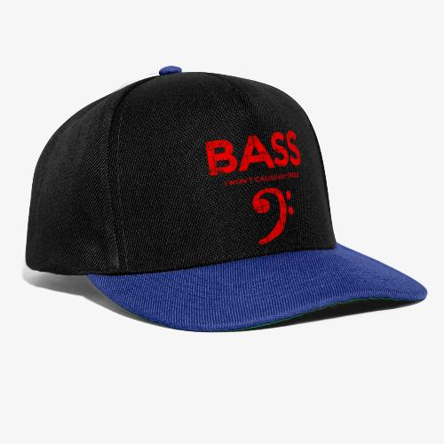 BASS I wont cause any treble (Vintage/Rot) Bassist - Snapback Cap