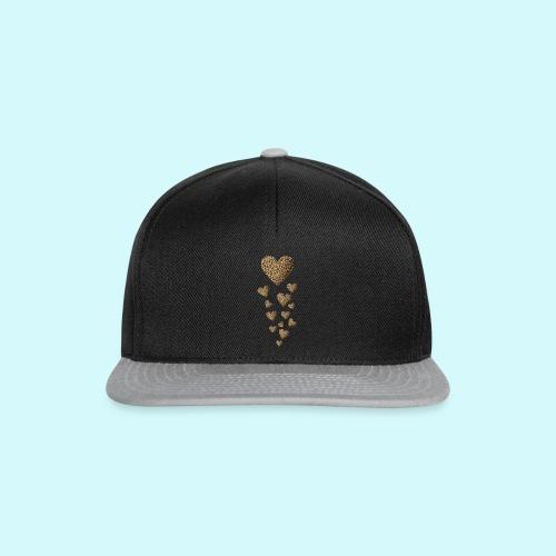 Leopardenmuster Herzen - Raubkatze - Snapback Cap