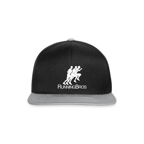 RunningBros Logo weiß - Snapback Cap