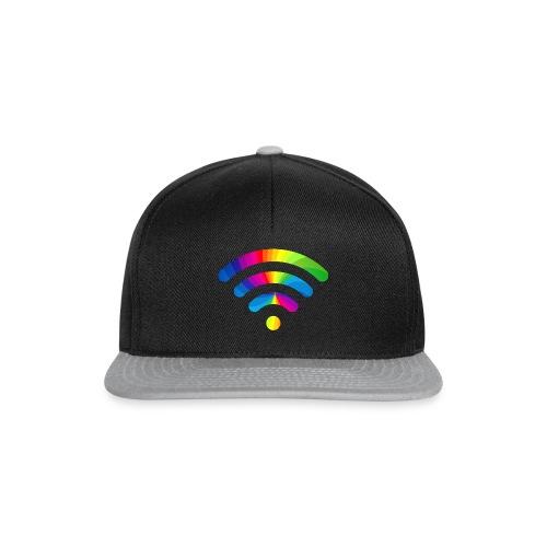 wifi signal rainbow - Snapback cap