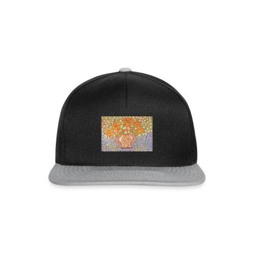 Orange Blumen - Snapback Cap