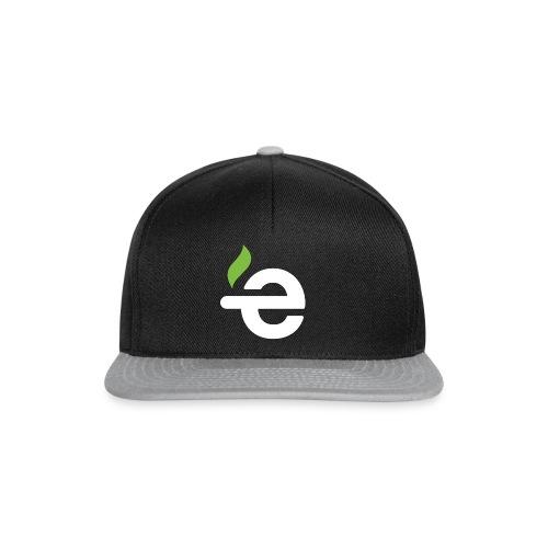 E logo white on black - Snapback cap