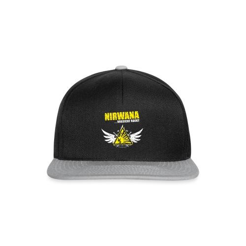 nirwana logo fluegel dunkler hintergrund png - Snapback Cap