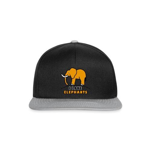 Elefant - I LOVE ELEPHANTS - Snapback Cap