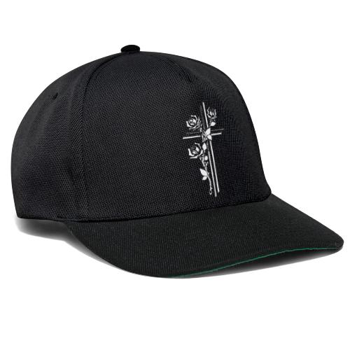 Roses On Cross - Snapback Cap