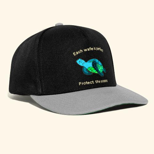 Each Wafe Is Perfect Protect The Ocean Sea Turtle - Snapback Cap